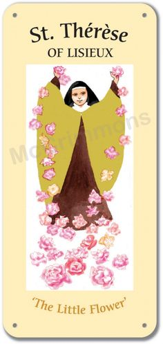Therese of Lisieux - 1 October Lectern Frontal Ste Therese, St Therese Of Lisieux, Poster On, Poster Prints, Sacred Art, Saints, Aurora Sleeping Beauty, Display, Day