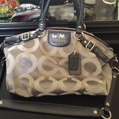 Authentic Coach Bag Authentic Coach Bag needs a few spots cleaned on it but should be an easy clean. Coach Bags