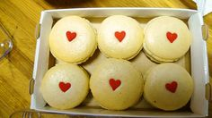 Valentine's macarons! More like woopie pie....