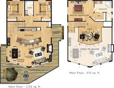 Ashland Floor Plan. love this one and I would do this without the dormers and 2nd floor bath if it made it affordable...put the extra money in the decking :-)
