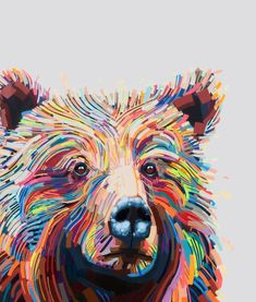Colorful bear artwor