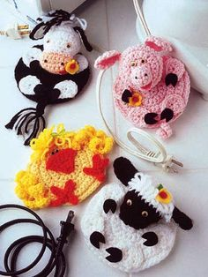 Crochet for Babies & Children - Accessories to Crochet for Kids - Country Cord Cuddlers Crochet Pig, Crochet Home, Love Crochet, Crochet Gifts, Crochet Animals, Crochet For Kids, Crochet Dolls, Crochet Stitches, Crochet Patterns