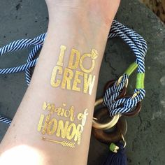 Bach Boat Party. Sport these awesome I DO CREW flash tattoos by thetattooboutique