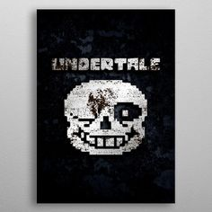 """Beautiful """"Undertale"""" metal poster created by Everything Anime. Our Displate metal prints will make your walls awesome. Gaming Posters, Movie Posters, Good Company, Cyber, Poster Prints, Fan Art, My Love, Metal, Classic"""