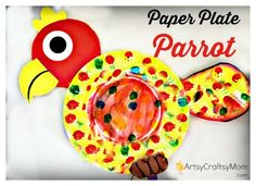 Paper Plate Parrot Craft IMG 6130a photo