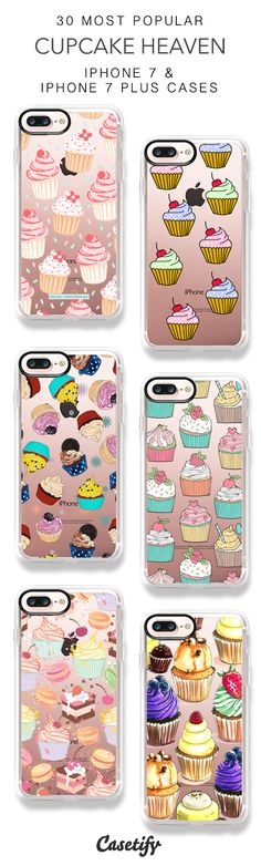 30 Most Popular Cupcake Heaven iPhone 7 Cases and iPhone 7 Plus Cases. More Food iPhone case here > https://www.casetify.com/collections/top_100_designs#/?vc=PfykeBcikf