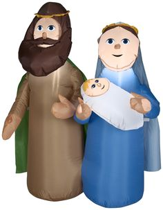 4' Airblown-Holy Family Scene - Christmas Inflatable