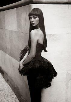 Pretty little black feathers dress
