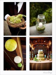 Light Green - Will be my accent color for my wedding - I love the candle and jar idea - The cake - The lanterns!