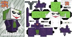 Paper toy the Joker  Coupez votre papier comme vous feriez un sourire d'ange