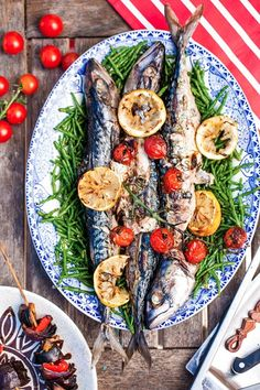 Hemsley & Hemsley: Mackerel, Samphire & Caramelised Lemon (Vogue.com UK)