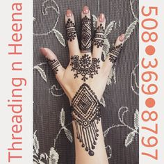 Indo Moroccan henna $15  174 Dean St, Taunton MA Call or text 508 369 8797 BY Appointments only!