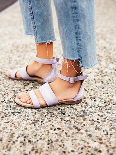 Crowe Distressed Sandal | Distressed leather strappy sandal with adjustable ankle buckle strap. Leather sole. Looks worn in to perfection and will just keep getting better with age and wear. The essential everyday summer sandal!