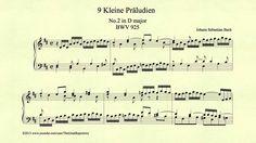"Bach, ""Prelude in D major, BWV 925, Piano"""