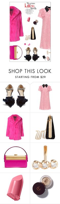 """""""Kitten   (T.S)"""" by sue-mes ❤ liked on Polyvore featuring N°21, Miu Miu, G.V.G.V., Jimmy Choo, Bienen-Davis, Ginette NY and Bobbi Brown Cosmetics"""