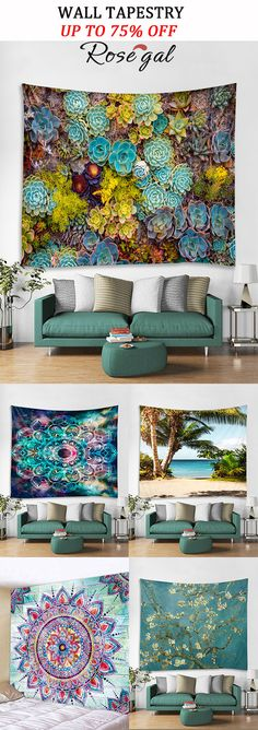 01,S FF Mountains Tapestry Abstract Sunset Tapestry Ocean Wave Tapestry Sunset Tapestry 3D Great Red Nature Landscape Wall Hanging Tapestries for Room