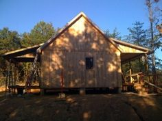 Timber Frame Cabin by hankr http://www.cabinbuilds.net/timber-frame-build-by-hankr