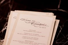 Wedding Program by Courtney Callahan Paper | Photo by Pen Carlson
