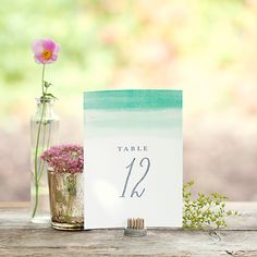 FREE PRINTABLE table numbers - color wash style #evermine