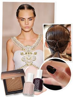 "@Anna Lynch Magazine loved the ""decadent gold leaf makeup"" on the Marchesa SS13 NYFW runway."