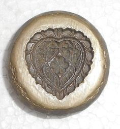 India Vintage Bronze Big die Mold/Mould hand engraved Beautiful Heart designs