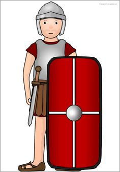 Giant Roman soldier picture for display (SB9414) - SparkleBox