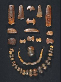 """Amber beads from Neolithic times at Danish National Museum. """"How were the amber beads used?""""  http://natmus.dk/en/historical-knowledge/denmark/prehistoric-period-until-1050-ad/the-neolithic-period/neolitic-amber/how-were-the-amber-beads-used/"""