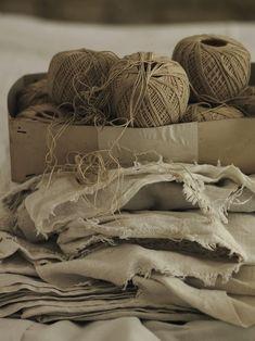 WABI SABI - simple, organic living from a Scandinavian Perspective. Wabi Sabi, Textiles, Scandinavia Design, Yarn Thread, Linens And Lace, Natural Texture, Light And Shadow, Natural Linen, Cool Stuff