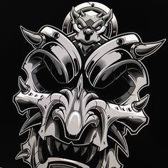 """306 To se mi líbí, 4 komentářů – Jared Mirabile (@sweyda) na Instagramu: """"Little gargoyle headpiece. #samurai #mask #gargoyle #vector #illustration #adobe #illustrator…"""""""