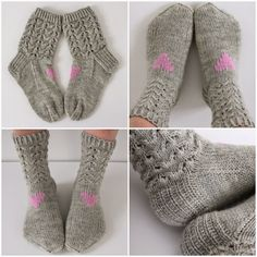 Taimitarha: I heart You Crotchet, Knit Crochet, Crochet Slippers, One Color, Colour, Yarn Colors, Knitting Socks, Leg Warmers, Fingerless Gloves