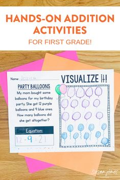 Addition activities for first grade! This unit has plenty of activities, games, and printables to teach your students how to add within 20. Head over and download the preview to see more!  #firstgrademath #firstgradeaddition #addition #additiongames