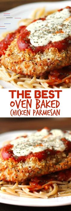 The Best Oven-Baked Chicken Parmesan recipe if you're looking for a healthier chicken parmesan recipe! The Best Oven-Baked Chicken Parmesan recipe if you're looking for a healthier chicken parmesan recipe! Best Baked Chicken Recipe, Oven Baked Chicken Parmesan, Great Chicken Recipes, Butter Chicken, Garlic Butter, Simple Chicken Parmesan Recipe, Chicken Recipes Healthy Oven, Healthy Recipes, Parmesan Cauliflower
