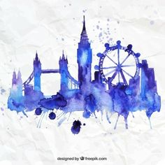 RAINBOW WATERCOLOUR BIG BEN - Google Search