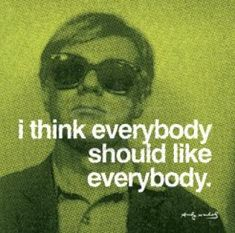 andy warhol...My new challenge! It is REALLY hard to like messy customers who don't put their shoes away though!