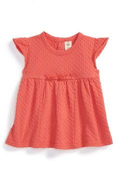 Tucker + Tate Flutter Sleeve Empire Tee (Baby Girls) available at #Nordstrom