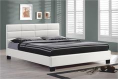 Manželská posteľ 160 cm - Tempo Kondela - Mikel CF8514 biela (s roštom)
