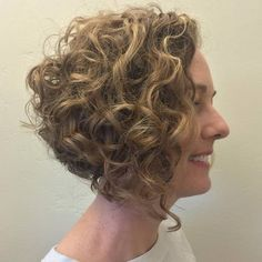 Curly Angled Bob.  Can it be longer in the back and still be stacked like this?