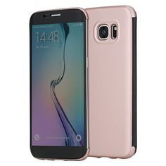 $1.75 (75% Off) on LootHoot.com - S7 Edge Case, ROCK® MOOST [DR.V Series] Translucent Touch Sensible Front Flip Cover Case for Samsung Galaxy S7 Edge (Rose Gold)