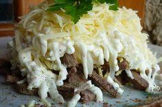 Салат «Мужской каприз» с мясом
