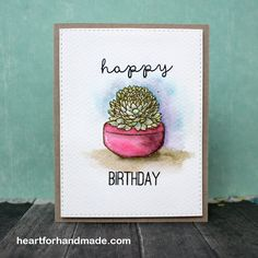 I was able to use  my new Distress Markers last night along with my new Succulent stamps from Hero Arts. I got them from my recent craft haul and so glad to use them this weekend. I did some test w...