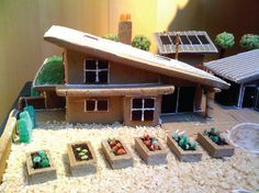 mid century modern gingerbread house - Google Search