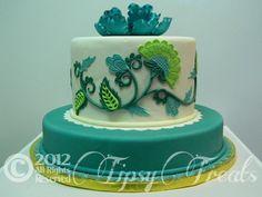 Jacobean cake  So so pretty!