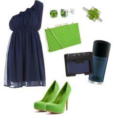 Fashion dark blue #dress