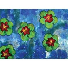 United Art and Education Art Project:  Simulate the look of Monet's water lily paintings using just a few art materials!
