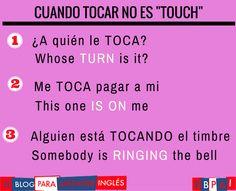 Spanish vocabulary - Tocar