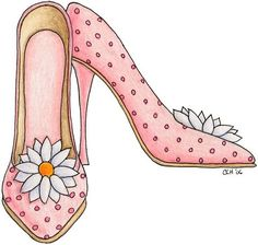 Pretty in pink - Veronica Vera - Picasa Web Albums Cute Images, Cute Pictures, Shoes Clipart, Classy Closets, Cute Clipart, Hand Painted Shoes, Shoe Pattern, Shoe Art, Art Shoes