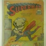 Superman Comic Book #8 CGC G+ 2.5 Cream to Off White Pages Front