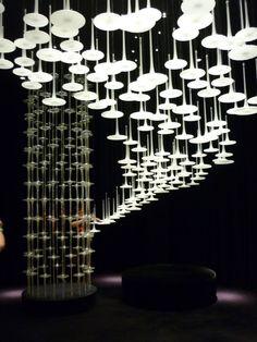 Upside-down mushroom? -Melogranoblu light installation, Milan Design Week 2012