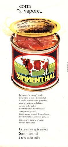 La pubblicità della carne in scatola Simmenthal negli anni '60