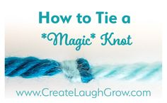We're talking about magic today folks! That's right. You heard me. Magic. This is a magic knot. If you knit or crochet and haven't had a chance to use this knot to join your yarn, I'm about to become your new best friend. If you're a crafter that has any project that requires you to join thread, yar